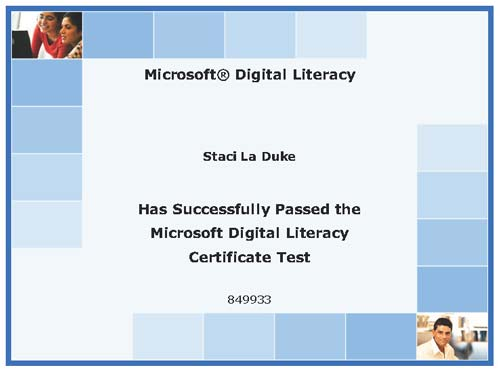 Microsoft Digital Literacy Certification
